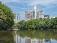 Skyline-From-Piedmont-Park-Lake-Meer_7916
